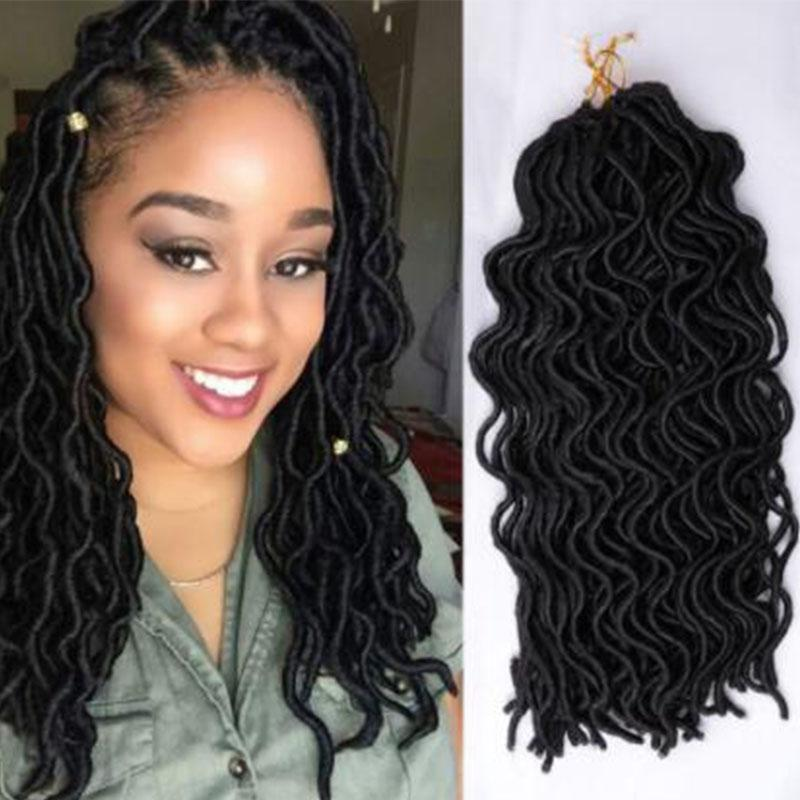 2019 20inch New Style Crochet Hair Extensions Faux Locs Crochet