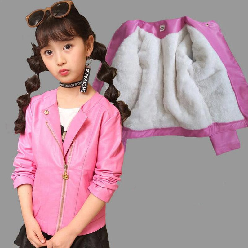 c1d1d87bf BabiCola Girls Leather Jacket Kids Girls And Coats Spring Kids ...