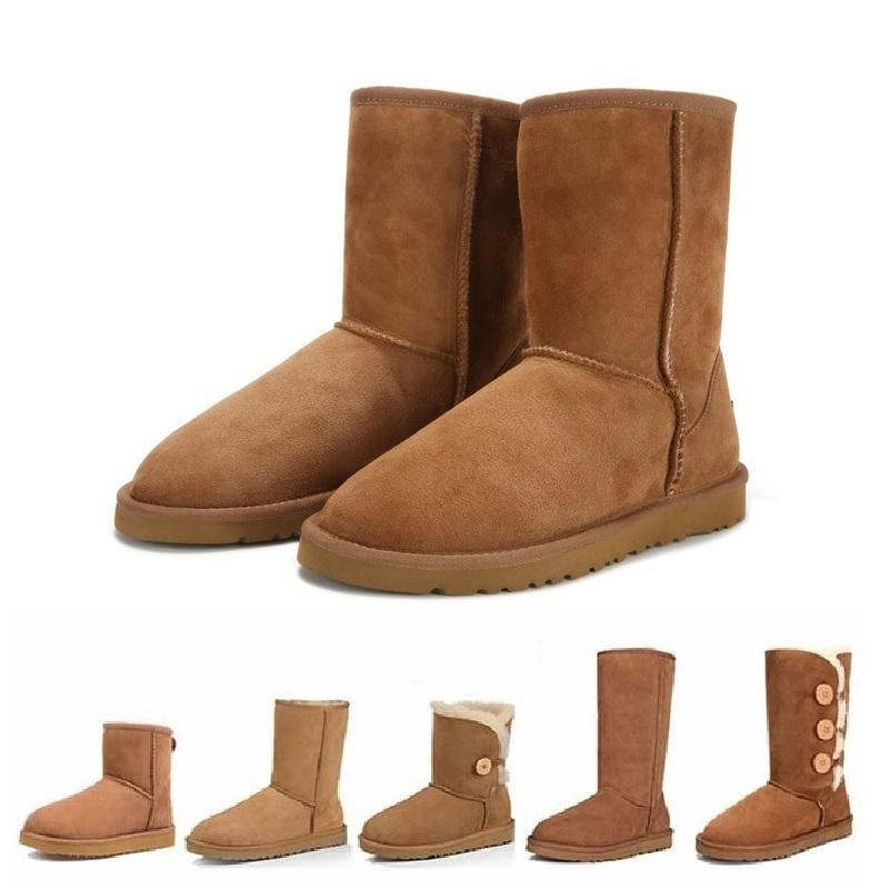Australia Boots Women Sheepskin Snow Shoes Brand Winter Boots Genuine  Leather Australian Shoes Mujer Botas Ankle Femmes Bottes Waterproof Boots  Western ... 6fcba7f98