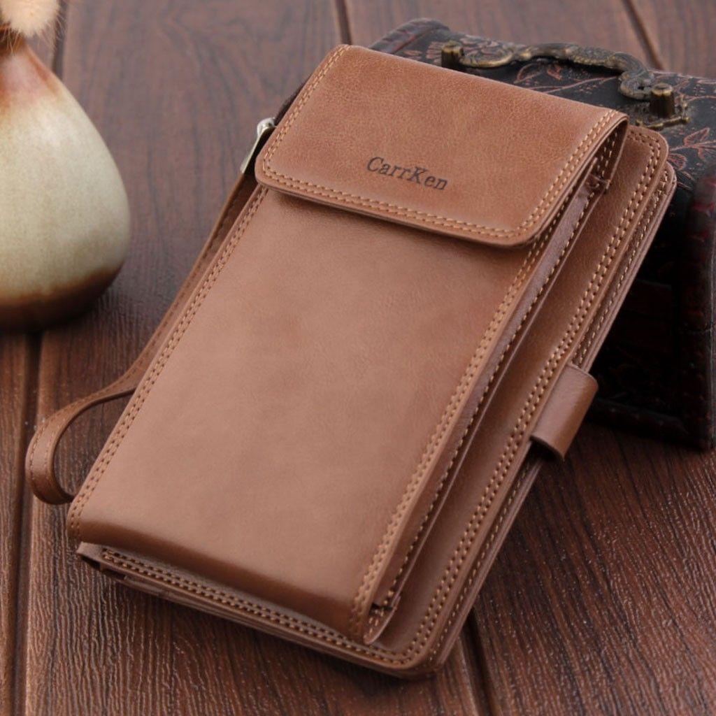 6762ce225fb1 Men Wallets With Coin Pocket Zipper Wallet Long Purse Coin Clutch Bag  Business 1215