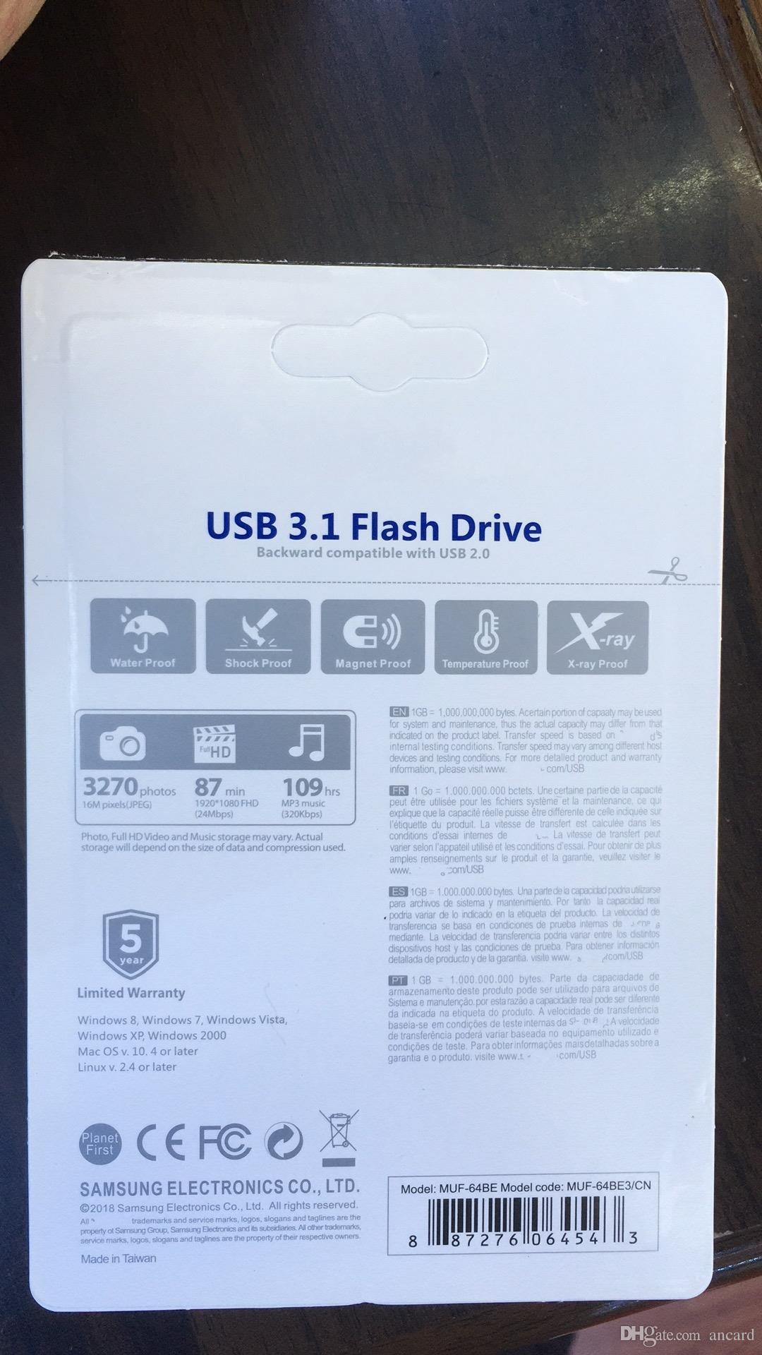 Vente Chaude Explosion étanche U disque 2.0-3.0 logo en gros en métal Emballage et Impression 256GB 128GB 64GB 32GB