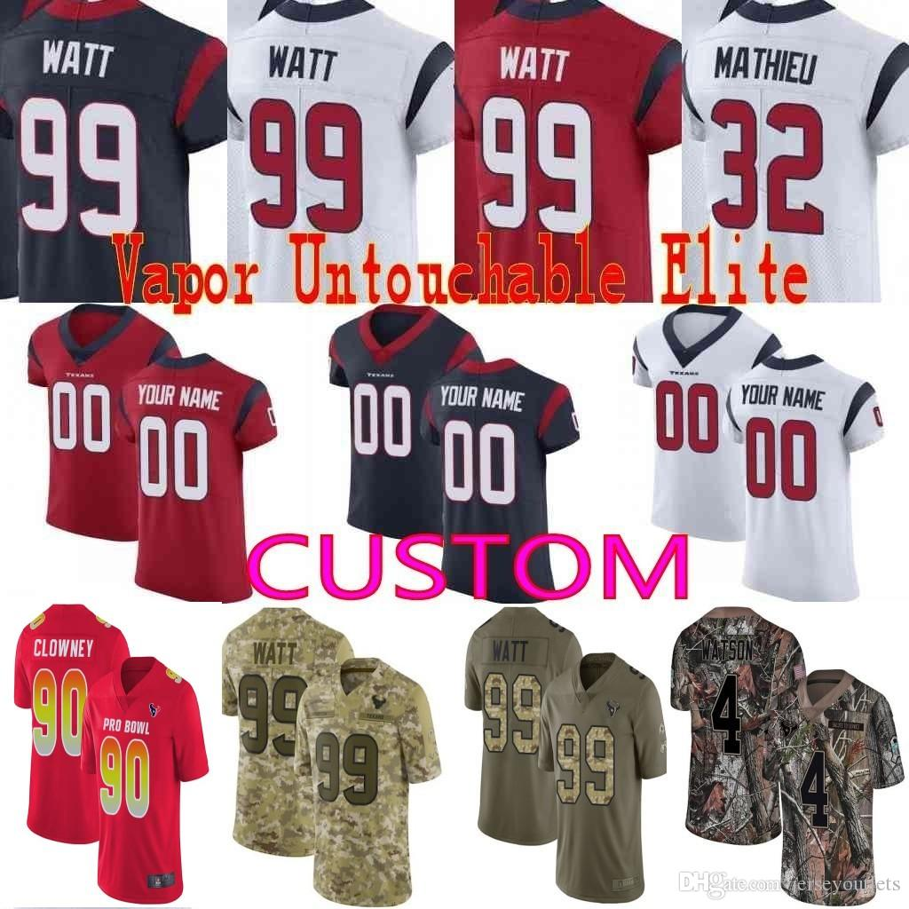 b93dea295 2019 Custom Men Youth Women 4 Deshaun Watson JJ Watt DeAndre Hopkins 32  Tyrann Mathieu Texans Camo Realtree Elite Limited Jersey 01 From  Jerseyoutlets
