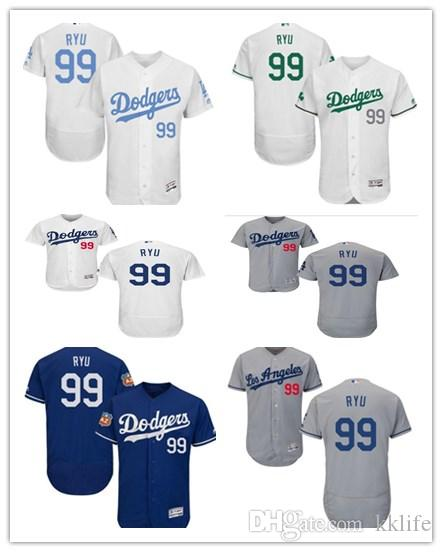103d88d40 Can Custom Los Angeles Dodgers Baseball Wear Women men youth 99 Hyun-Jin  Flex Base Authentic Collection Majestic Baseball Jerseys Online with   26.04 Piece ...