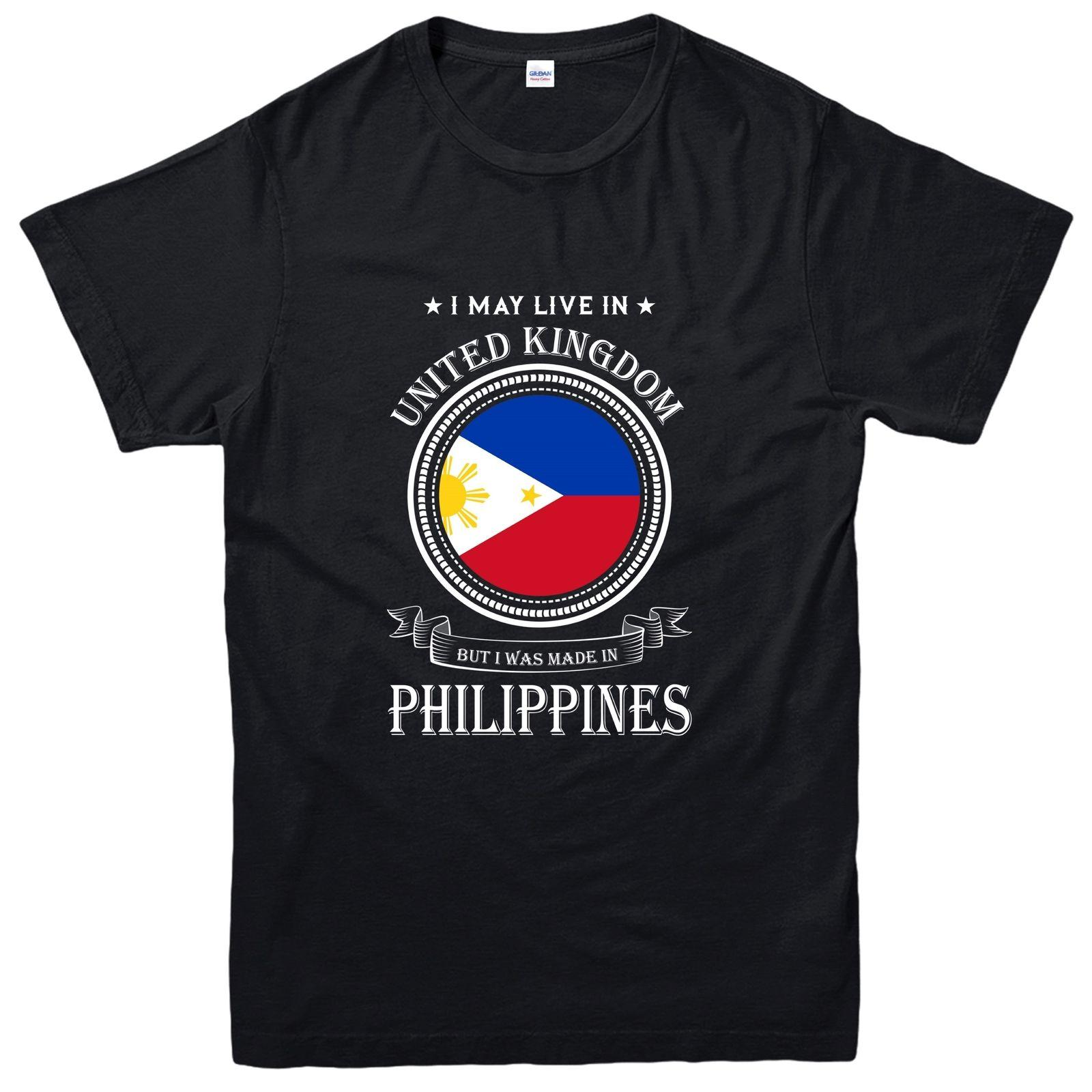Made In Philippines T Shirt Living In United Kingdom Nation Love