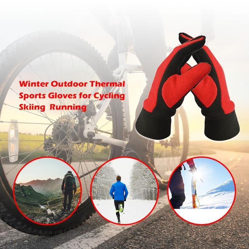 Großhandel Winter Fahrradhandschuhe Outdoor Warm Halten Skifahren