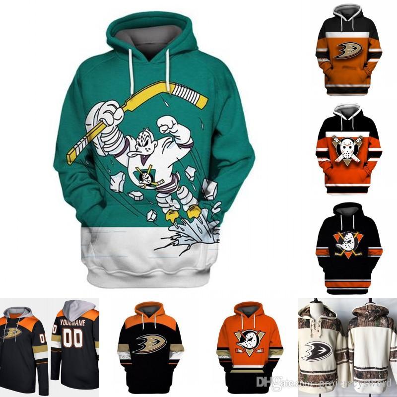 brand new 86d45 a0d9e Anaheim Ducks Hoodie Jersey Mens 15 Ryan Getzlaf 7 Andrew Cogliano 17 Ryan  Kesler 30 Ryan Miller 33 Jakob Silfverberg Hockey Jerseys