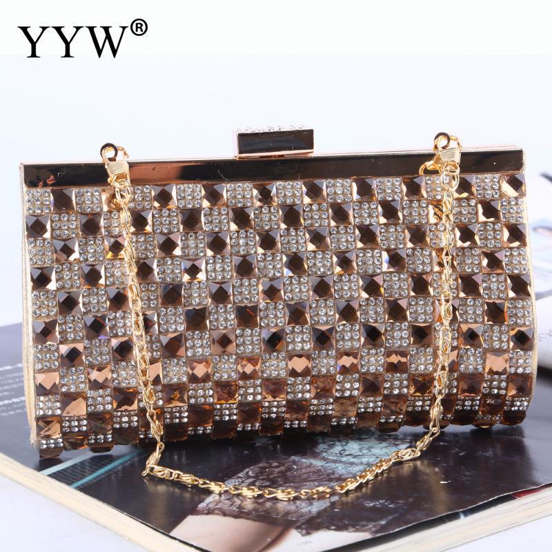 Gold Women Evening Bag Clutch Bolsas Mujer Wedding Party Bags Diamond Rhinestone Clutches Crystal Bling Silver Clutch Bag Purses