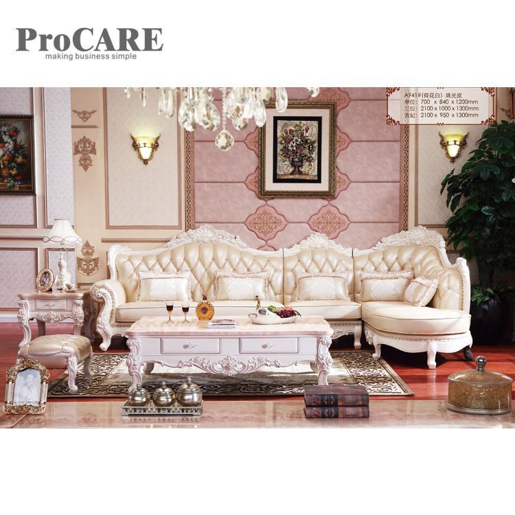 Design Large L Genuine Leather Corner modern Sofa set - A941B