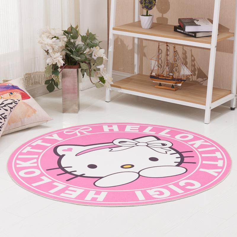 Acheter Bonjour Kitty 100cm Couverture Ronde Fluffy Shaggy Area Tapis Tapis  Accueil Chambre Tapis Tapis De Sol Chambre À Coucher Dornier Jacquard Shag  Tapis ...