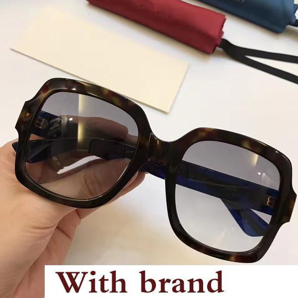 0036S Sunglasses Luxury Women Designer 0036 Square Summer Style Rectangle Full Frame Top Quality UV Protection Come With Case