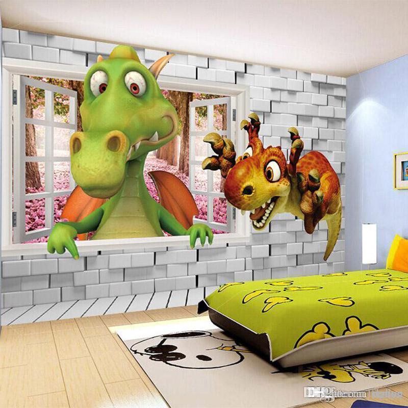 Grosshandel Grosshandel 3d Stereo Dinosaurier Tapete Wandbild