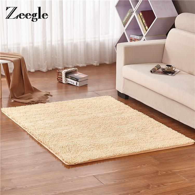 Zeegle Chenille Large Carpets For Living Room Coffee Table Floor Mat ...