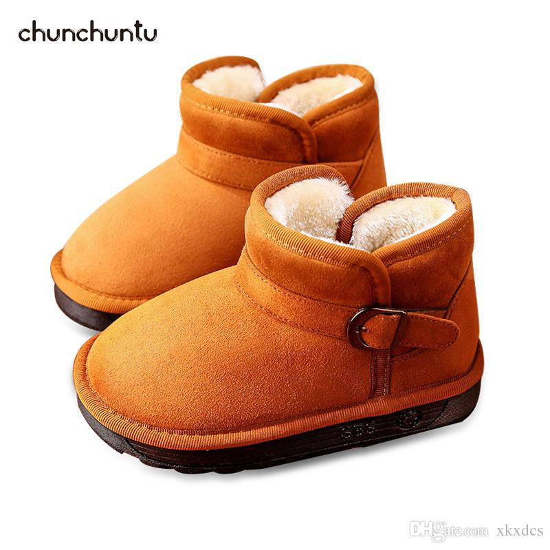 Chunchuntu 2018 Winter Children Fashion Warm Shoe Baby Boy Brand Snow Boot  Girl Leather Suede Ankle Boot Toddler 168 Boot For Girls Childrens Rain  Boots ... b9c3db4059f8