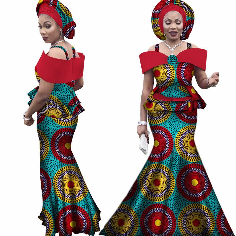 278825f7d7 Free headtie Africa Sets for Women Dashiki Plus Size Africa Clothes Bazin  Short Sleeve Traditional African Clothing WY3113