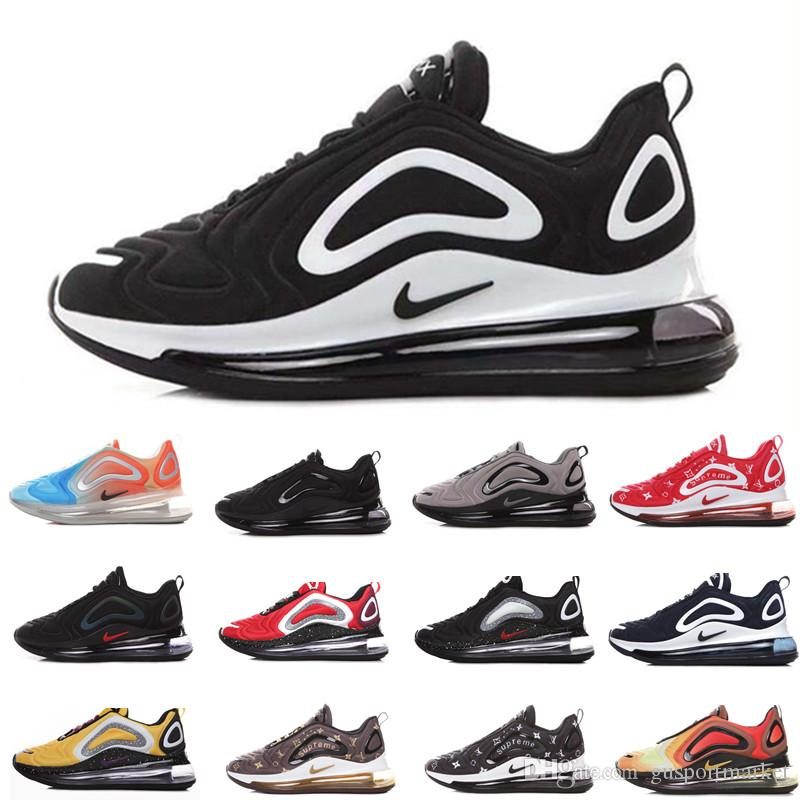 Nike air max 720 airmax 720s 72c 2019 Uomo Donna Running Shoes Northern Lights Night Triple Nero Total Eclipse Cool Grigio Metallic Silver Trainer