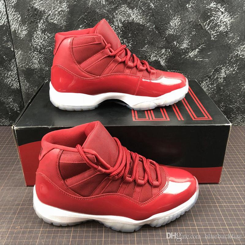 c446efd947eaa8 Real Carbon Fiber Gym Red 11 Basketball Shoes Mens 11s Authentic Sports  Trainers Sneakers Top Quality With Original Box Shoes For Men Athletic Shoes  From ...