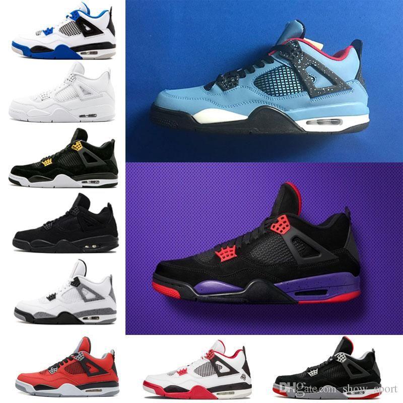 d94902e9e94 Men Travis 4 Cactus Jack Retro Thunder 4s OG Mens Basketball Shoes ...