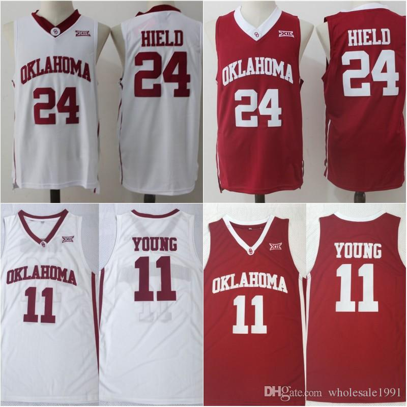 477c30ade0c 2019 11 Trae Young Oklahoma Sooners Jersey Mens 24 Buddy Heild Red White  Green College Basketball Jersey Stitched University Shirt From  Wholesale1991