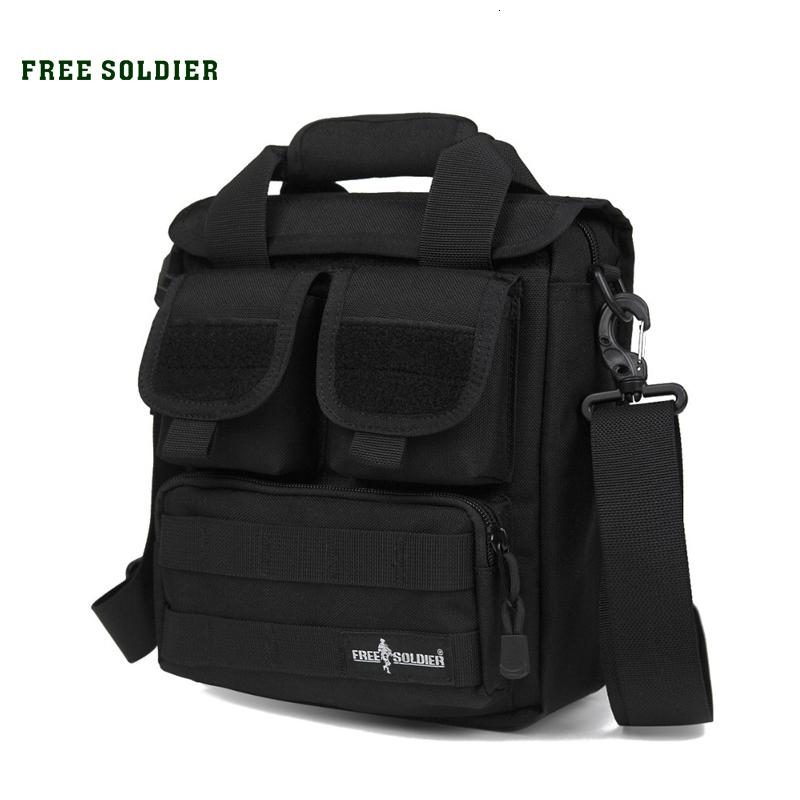 FREE SOLDIER Outdoor Sports Men's Tactical Handy Bags CORDURA Material YKK Zipper Single Shoulder Bags For Hiking Camping T190922
