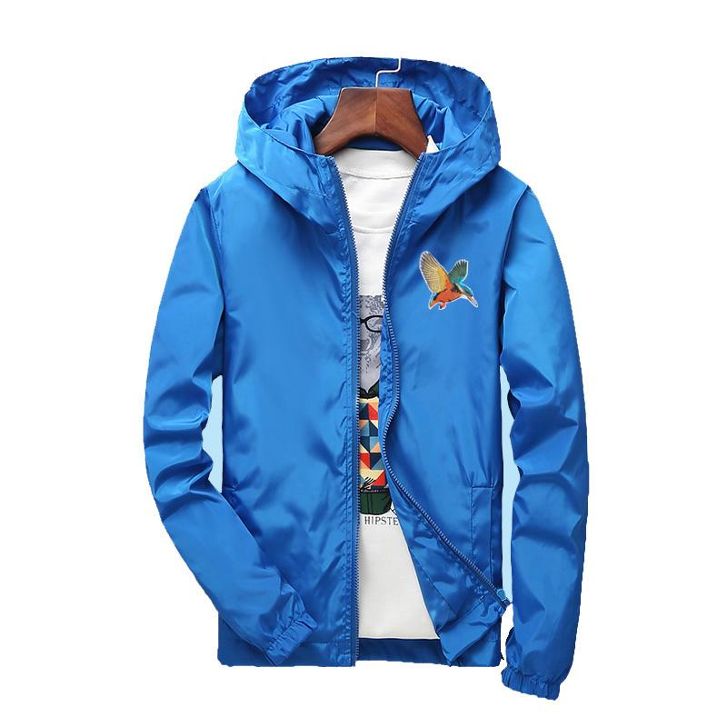e57b161380b Plus Size S-7XL for 130KG Loose Bomber Jackets Mens Clothing Thin Jacket  Men Windbreaker Solid Color Embroidery Animals Birds Jackets Cheap Jackets  Plus ...