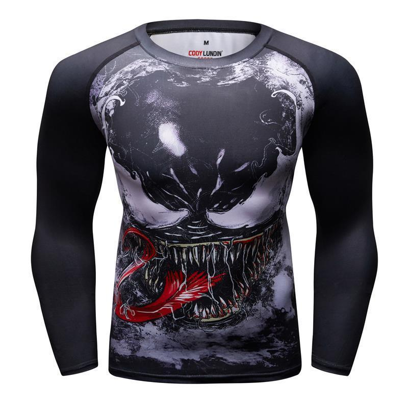 40a1270a19 Venom Compression Shirt 3d Printed Tights T Shirts Men 2019 Latest Comics  Cosplay Costume Long Sleeve Tops Male Fitness Clothes T Shirt Of The Day  Buy ...
