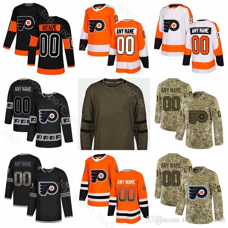 new style 2cf2e b9860 Man Youth Woman James van Riemsdyk Jerseys Philadelphia Flyers Ice Hockey  Oskar Lindblom Robert Hagg Wayne Simmonds Army Sault To Service