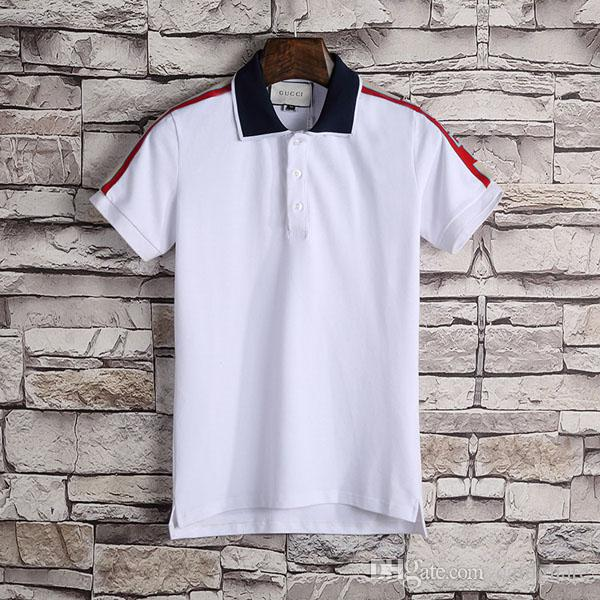 Man Polo Shirt #0225 Men's Casual Embroidery Cotton Business Polos Shirts Fashion Men Short Sleeve Summer High Quantity Golf Shirts