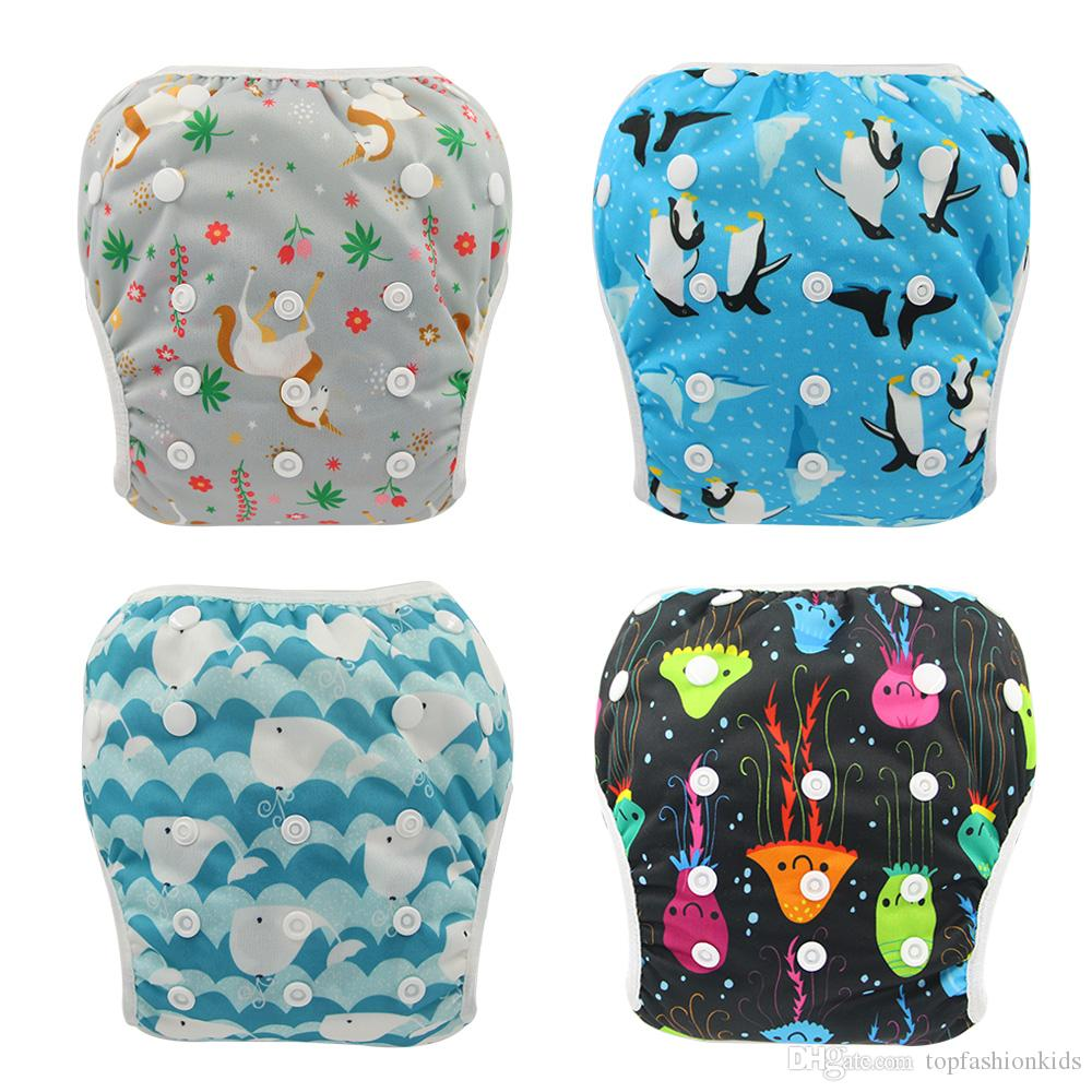 Adjustable Baby Swim Diaper Reusable Nappy Pants Infant Baby Boy Girl Reusable Swimwear Waterproof Swimming Diapers