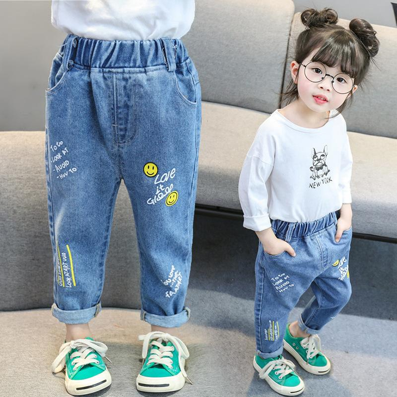 64bbdcf23d2eb Girls jeans 1 5 years old 3 female baby foreign pants spring clothes small  children spring and autumn 6 baby single pants wear