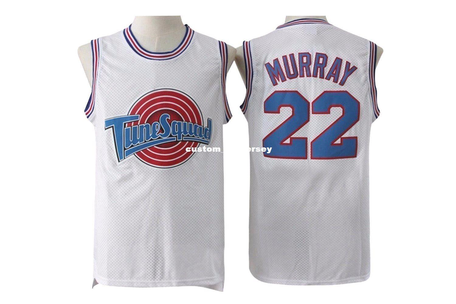 c20eff0d0e61 2019 Cheap Custom  22 Bill Murray Space Jam Tune Squad Basketball Jersey  White Stitched Customize Any Number Name MEN WOMEN YOUTH XS 5XL From ...