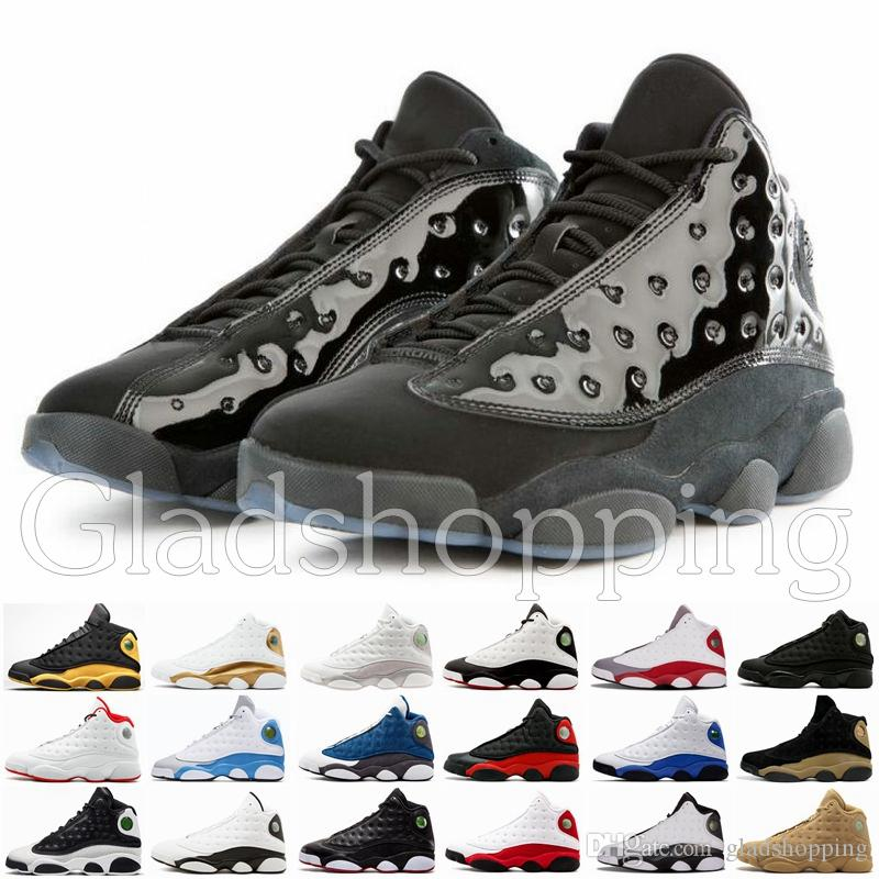 54764a0d2d9e8b 13 13s Cap And Gown Men Basketball Shoes Atmosphere Grey Bred Black Cat He  Got Game XIII Mens Basket Athletics Designer Sneakers Baseball Shoes  Basketball ...
