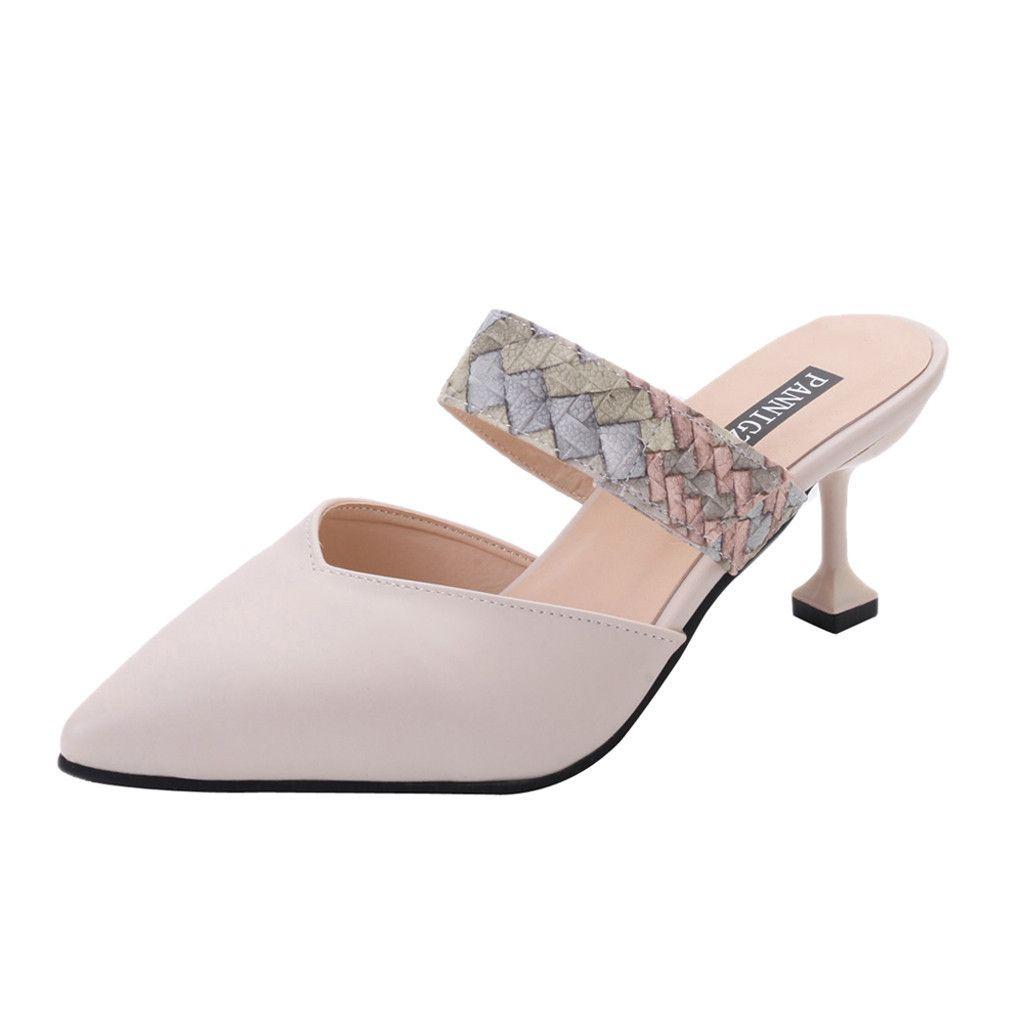 805762674e1d8d Dress Shoes Original Muqgew Shoe Women S Sandals Pointed Snake Single  Casual Stiletto Slippers Ladies Zapatos De Vestir Mujer  t Blue Shoes Shoe  Boots From ...