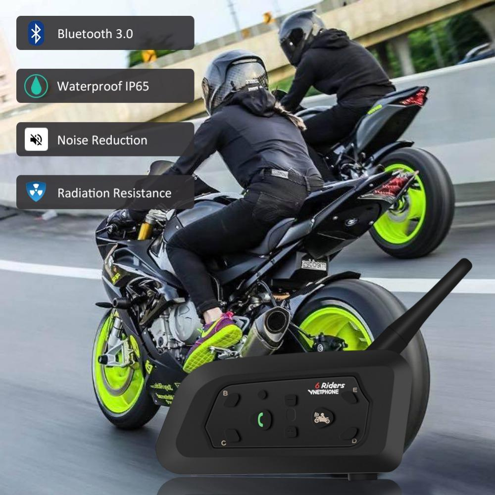 815c0390590 V6 Motorcycle Intercom Bluetooth Helmet Headset With Microphone 1200m GPS  MP3 Touring Skiing Accessories For 5 Riders The Best Helmet For Motorcycle  The ...