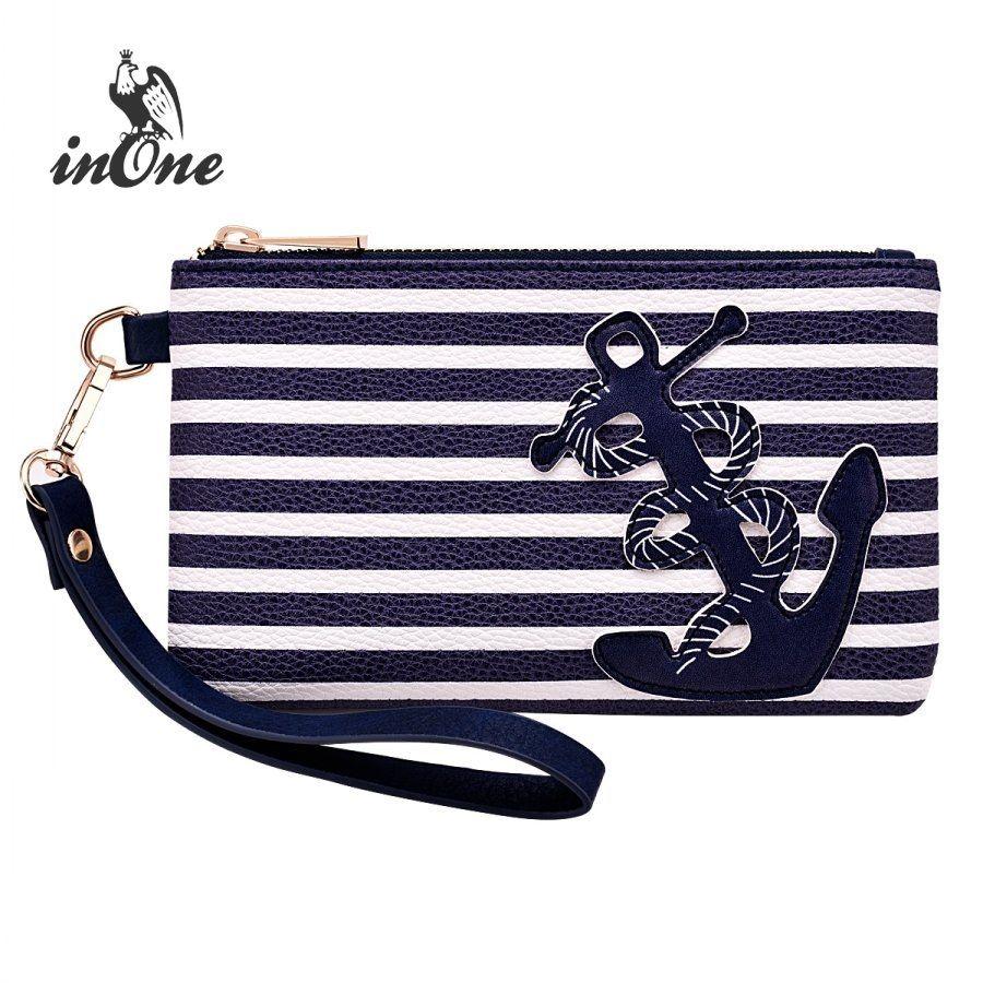8ce3c2c368 Navy Blue Stripe Nautical Anchor Bags For Women 2018 Purse Wristlet Zipper  Coin Pouch Cell Phone Evening Bag Clutch Handbag #789765 Bags For Sale  Expensive ...