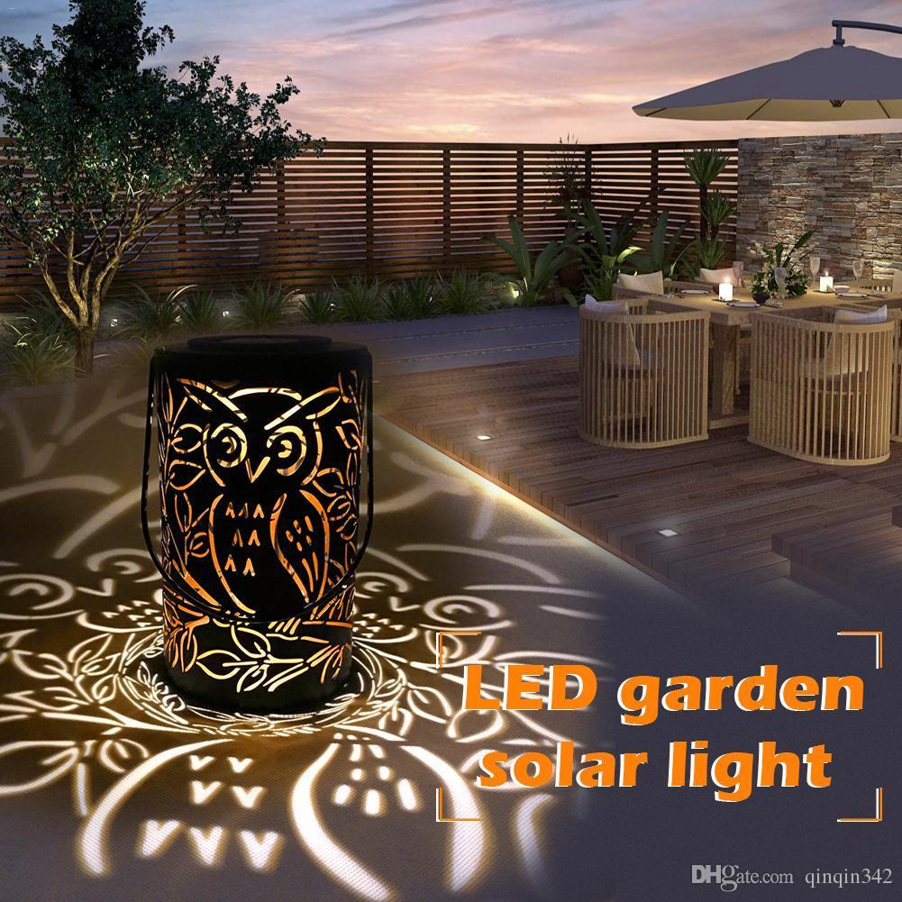 LED Solaire Jardin Lumière Owl Extérieure Imperméable Jardin Décoration  Nuit Lampe Rétro Jardin Paysage Pelouse Lampe Au sol lumière
