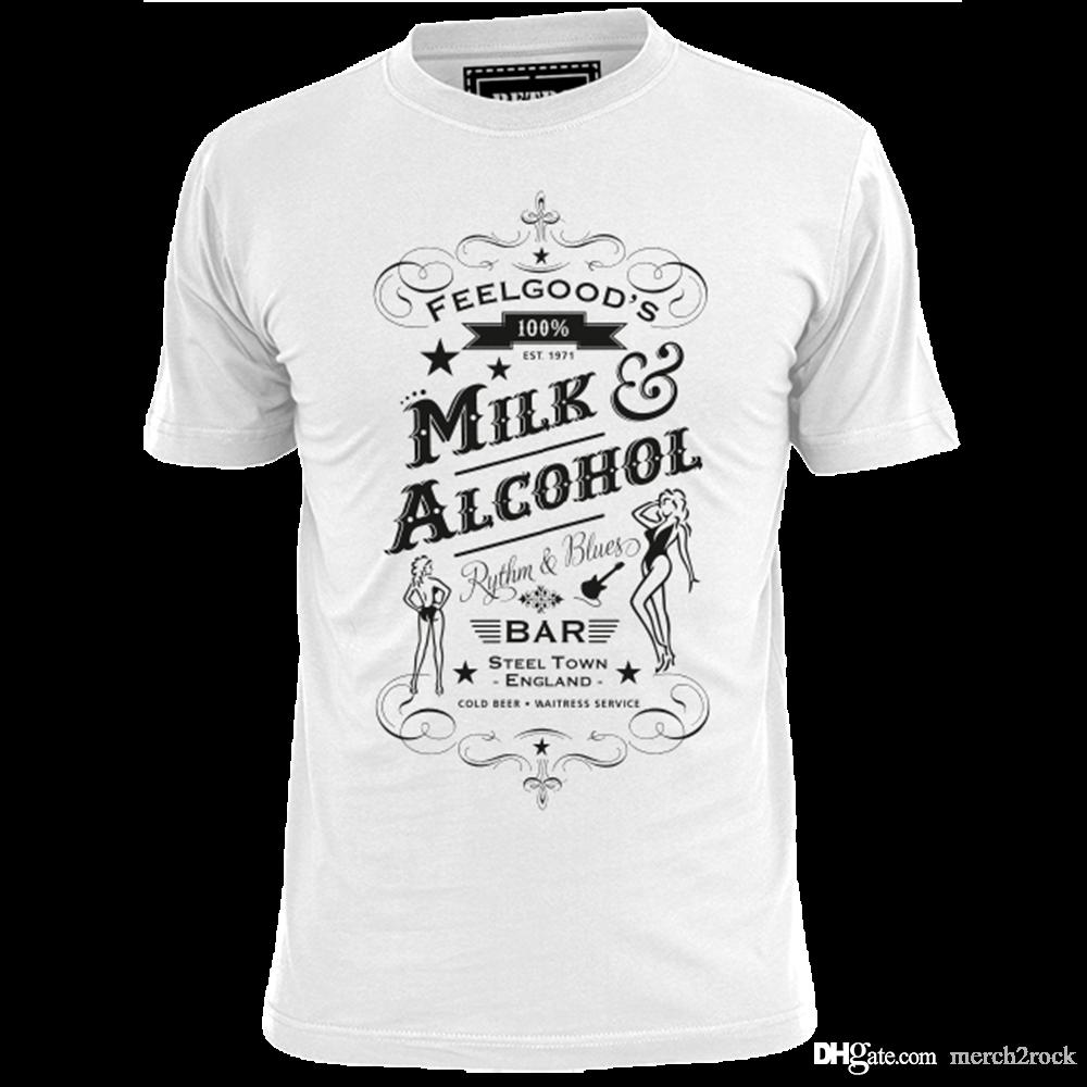 b4fe98f50 FEELGOODS MILK AND ALCOHOL BAR MENS ROCK T SHIRT BOWIE HENDRIX TALKING BOB  DYLAN Online Funky T Shirts Buy T Shirt Design From Merch2rock, $10.95|  DHgate.