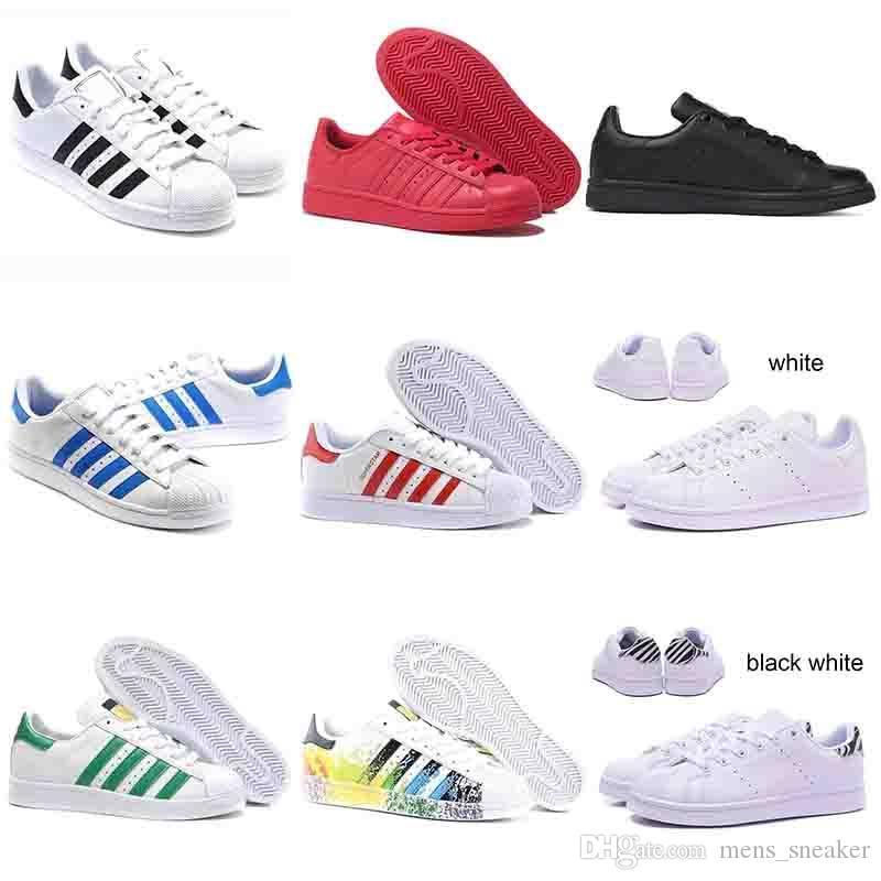 Weiß Ii Adidas Superstar Qualität Schuhe Gute Rote Frauen