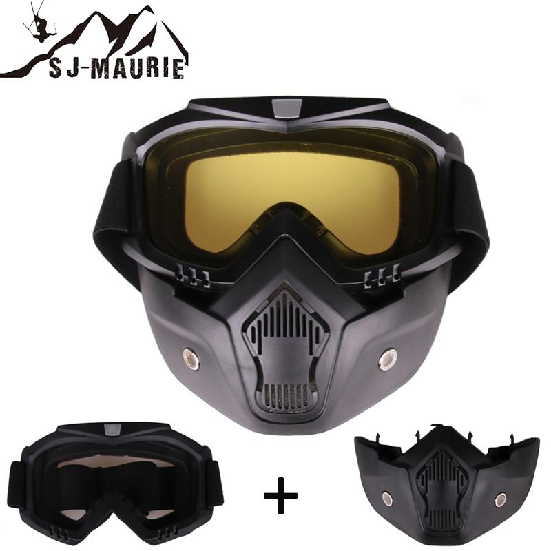 91e274e1b3 2019 SJ Maurie 2 In 1 Winter Sports Skiing Goggles Ski Snowboard Snowmobile  Skate Full Face Mask Glasses Motocross Sunglasses From Brandun