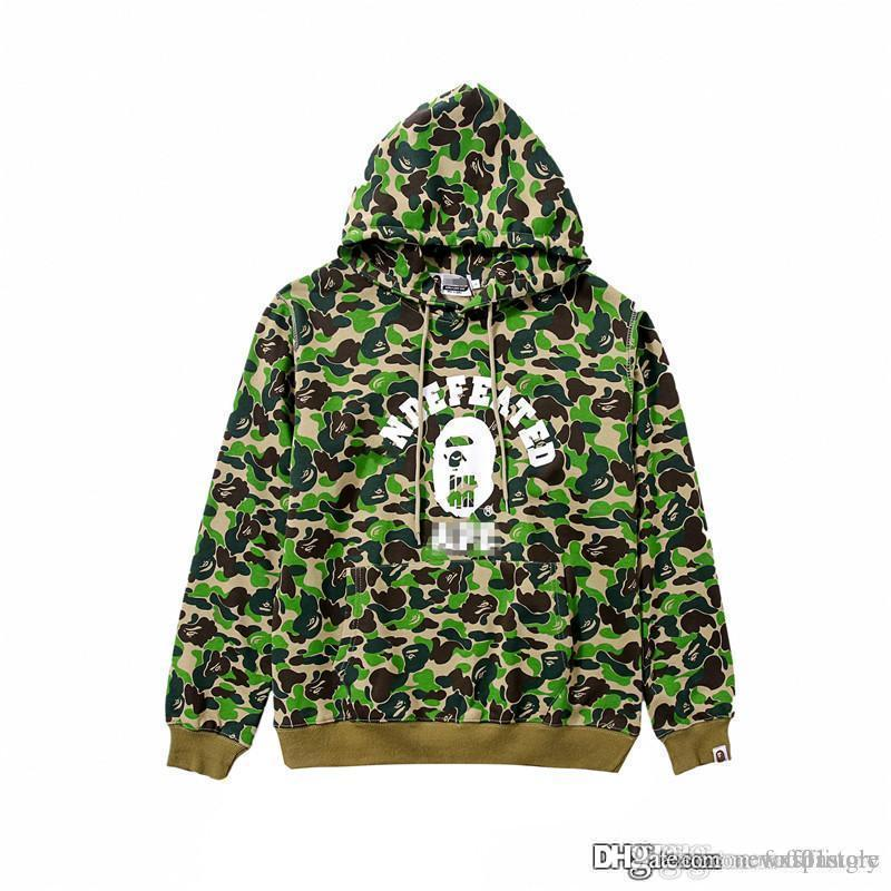 f86d58f448224 2018 Unisex Hot A Bathing A Ape 18Bape X undefeated Men's Coat Jacket  PULLOVER HOODIE Green Hoodie
