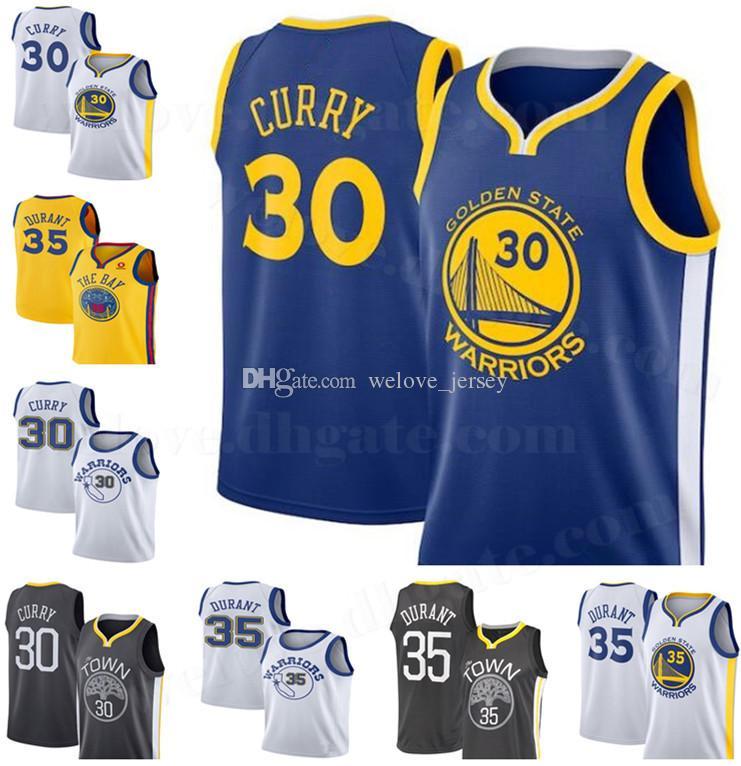 1b9265cdfdd8 2019 HOT Sale Warriors Jerseys 30 Curry 35 Durant Golden 2019 New State  Stephen Men Warriors Jersey Basketball Jerseys From Welove jersey