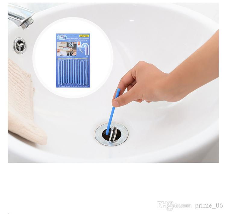 Sani Sticks Sewer cleaning Rod Drain Cleaner and Deodorizer Unscented kitchen toilet bathtub sewage decontamination to deodorant by DHL
