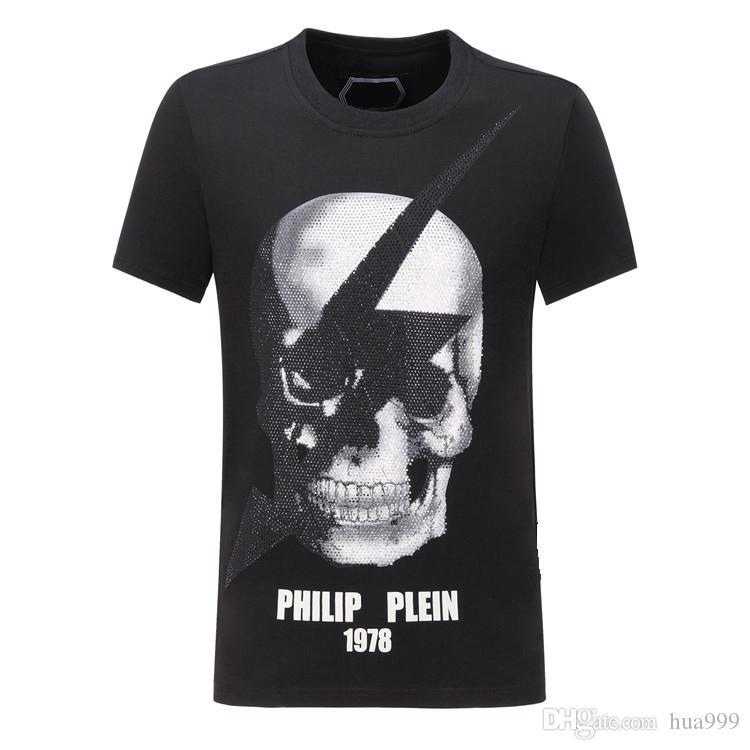 f78c217b28e 2019 New Fashion Mens Designer O-Neck T Shirts Short Sleeve Skull Animal  Letter Printing Comfortable Luxury T Shirts PP T Shirts Men s T-Shirts Pp T  Hsirt ...