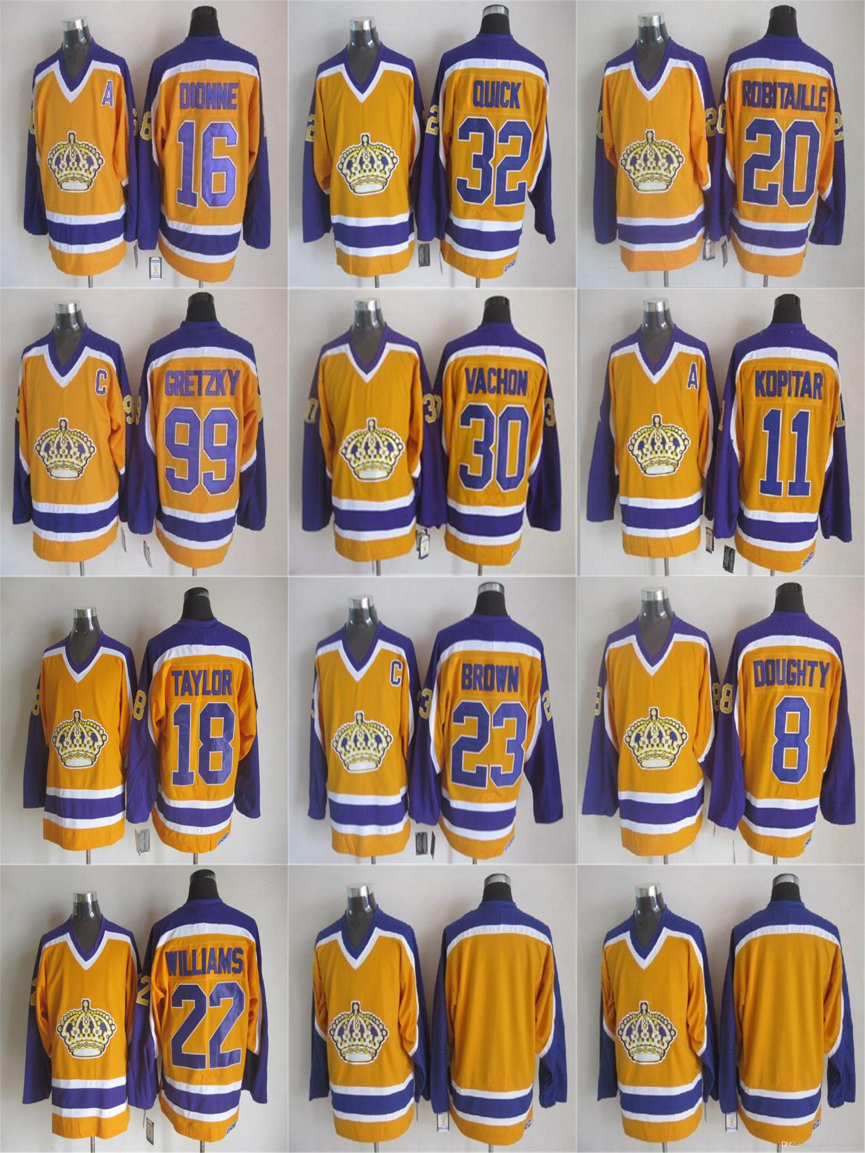 online store 9106b 17e68 Vintage CCM Wayne Gretzky Jersey Los Angeles Kings Marcel Dionne Jonathan  Quick Rogie Vachon Luc Robitaille Drew Doughty Man Hockey Jerseys