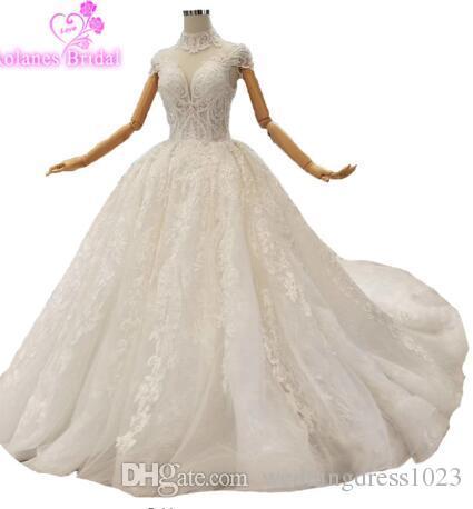 439da06e5c7e Acquista 2019 New Design Brautkleider Hochzeitskleid Scintillante Manica  Lunga Lucido Abito Da Sposa Pizzo Pieno Di Alta Qualità Abiti Da Sposa  Nuziali I4 A ...
