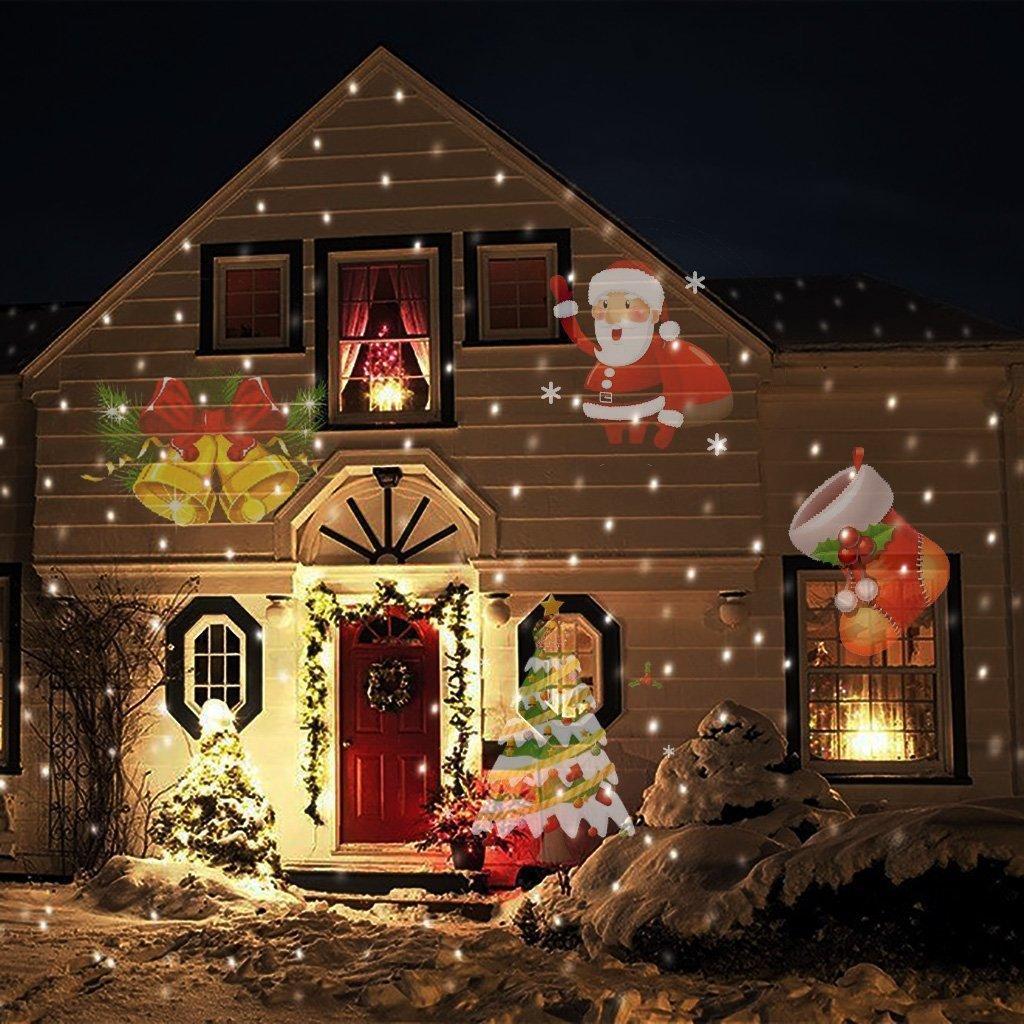 2019 moving christmas laser lights waterproof led dynamic snowflake