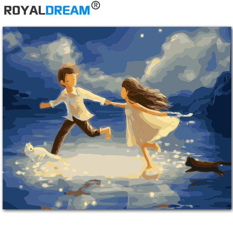 Satın Al Royaldream Kız Ve Erkek Sayılarla Diy Boyama Akrilik Boya