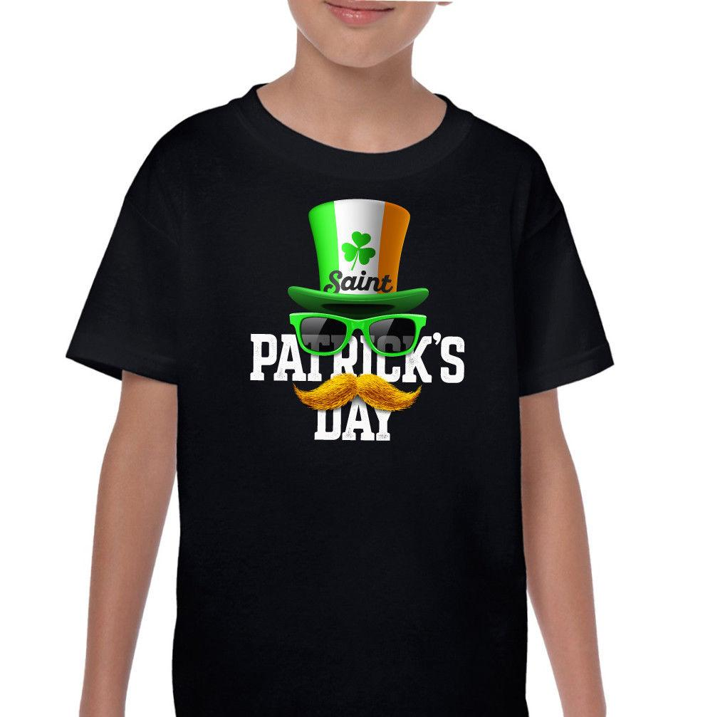c125bba7d Irish Top Hat Flag Kids Funny St Patricks Day T Shirt Ireland Paddys Boys  Girls Custom Jersey T Shirt Classic Quality High T Shirt Ridiculous T Shirt  Best T ...