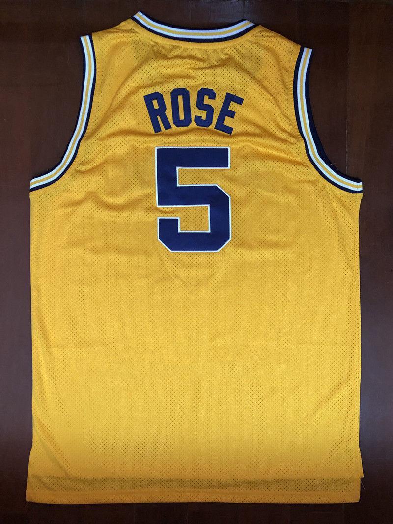 3757e75dd04 2019 Cheap Custom Jalen Rose #5 Michigan Retro Basketball Yellow Stitch Customize  Any Number Name MEN WOMEN YOUTH XS 5XL From Tntjersey, $19.8 | DHgate.Com