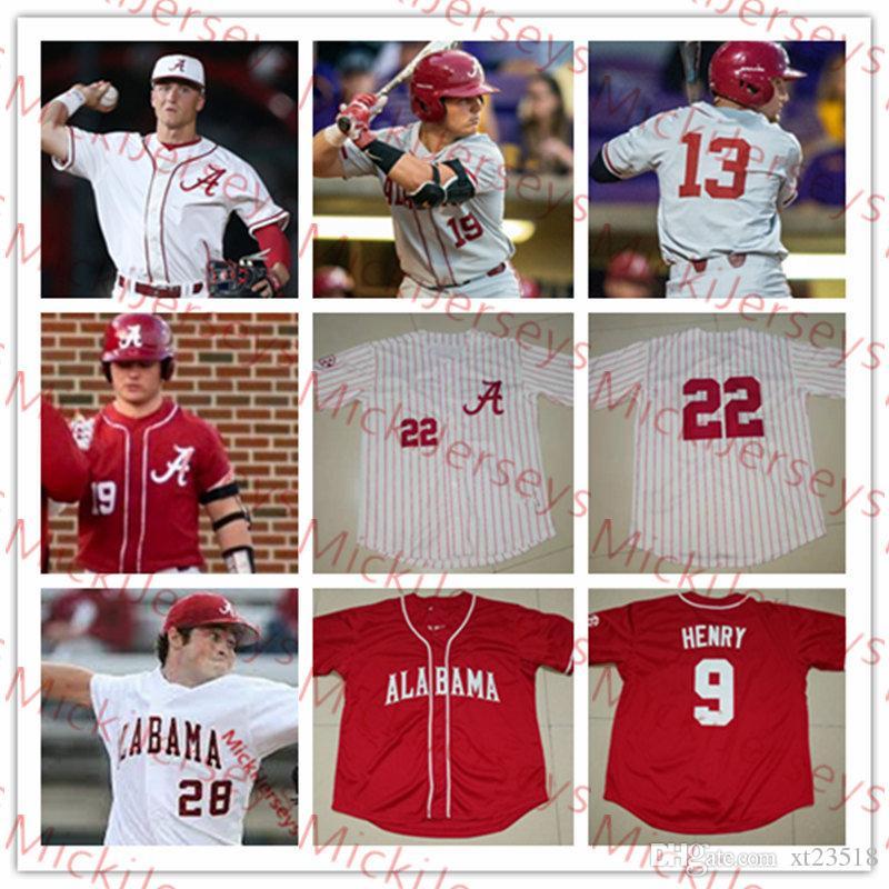 76153cfc73f 2019 Mens Custom NCAA Alabama Crimson Tide COLLEGE Baseball Jersey Jimmy  Nelson Alex Avila Mikey White Cody Henry Jett Manning Alabama Jersey From  Xt23518