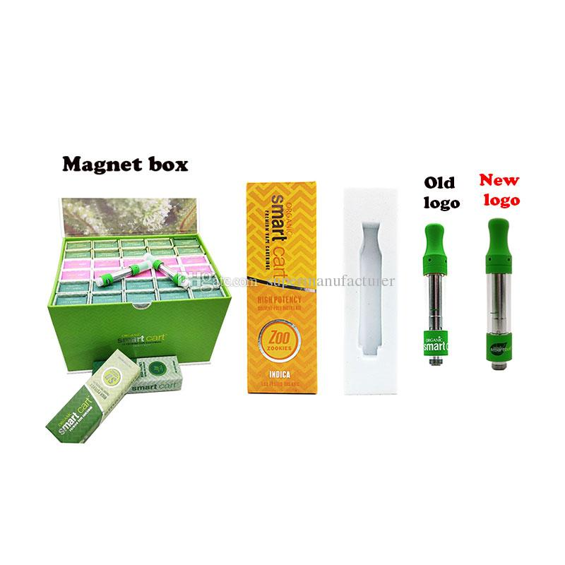 Newest Brand Smartbud magnet package Smart Cart Vape Cartridges different  flavors packaging box 510 Vape Empty Green 1 0ml Smart bud Carts